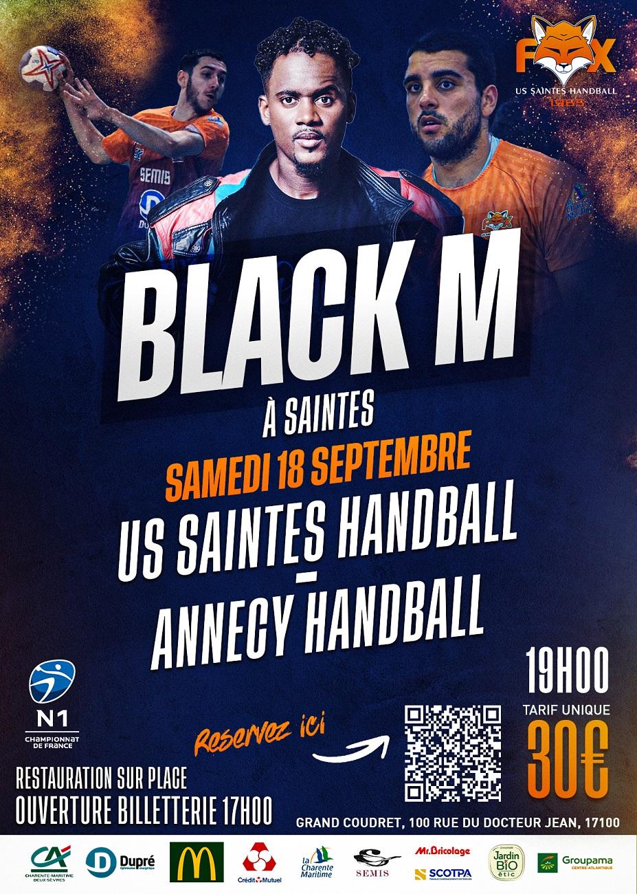 Match N1 + Showcase de BLACK M c'est samedi !